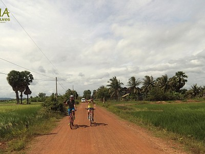 Amazing Cycling through Cambodia Countryside
